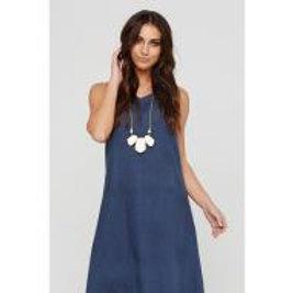 Willow Navy Linen Dress