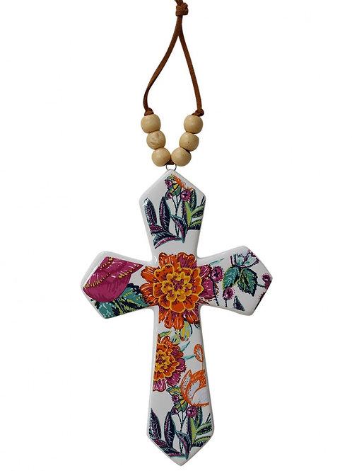 LAVIDA - Cross (small floral)