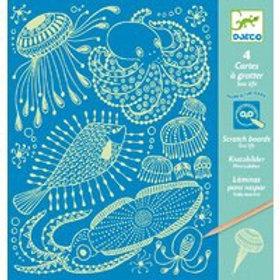 DJECO - Scratch Cards Creative Set