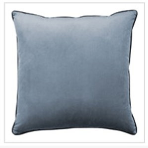 Clifton Piped Velvet Cushion Glacier
