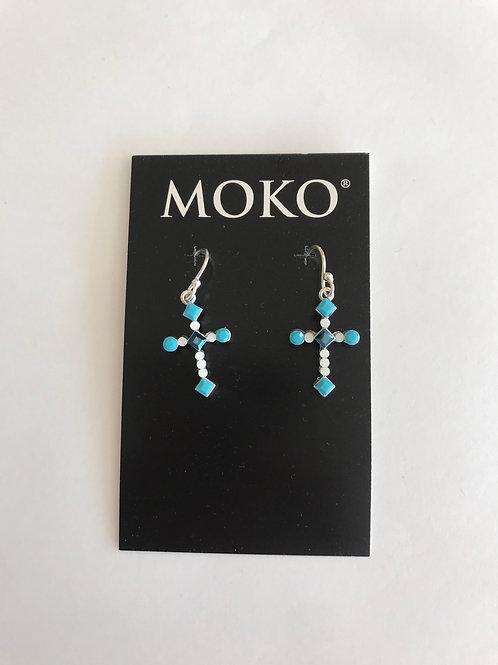 Swarovski Crystal studded Cross Earrings