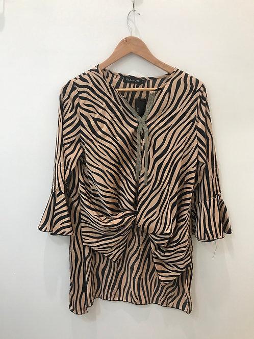 Zebra Print Twist Shirt