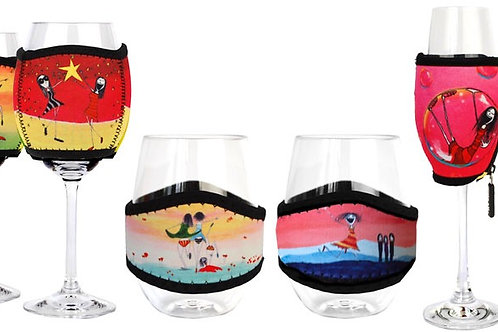 IMAGINE ELLIE - Wine Glasses Plastic with covers