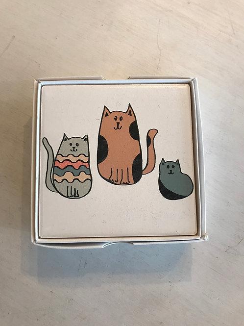 Cat Coasters - set of 4