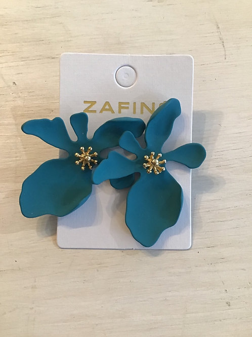 Large orchid flower stud earrings