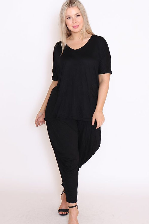 COTTON VILLAGE - Black Shirt