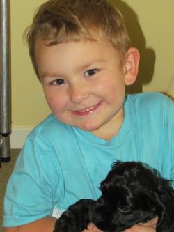 Great Nephew Logan and friend