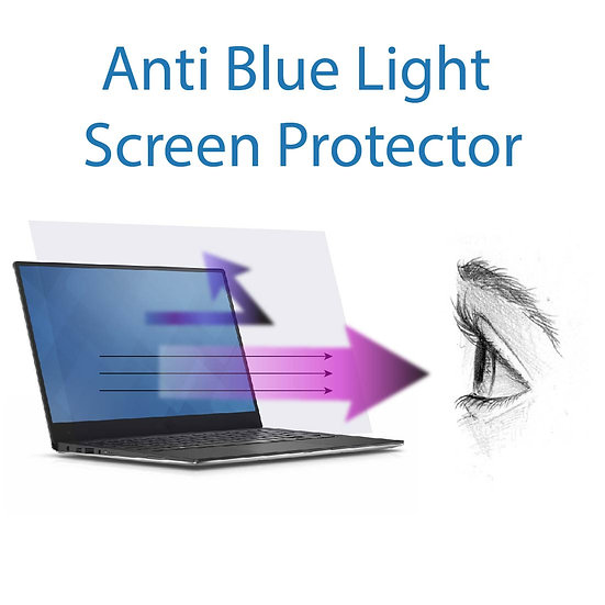 Anti Blue Light Static Cling Screen Protector for 15.4 Inches Laptop (3 pack)