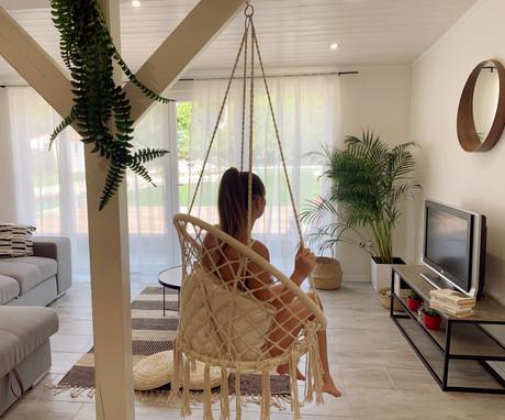 Villa Aranykert Vének nappali