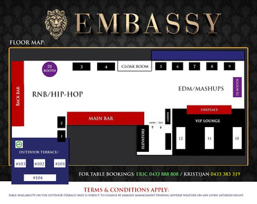 Embassy Table Booking Map