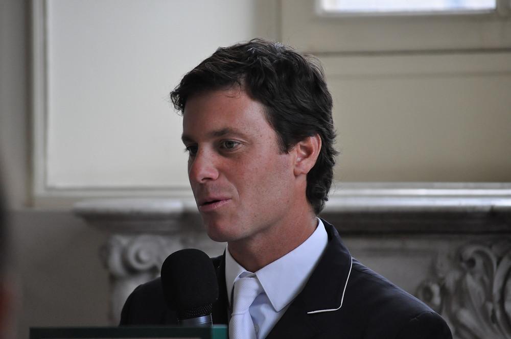 Pedro Veniss lors de la conférence de presse