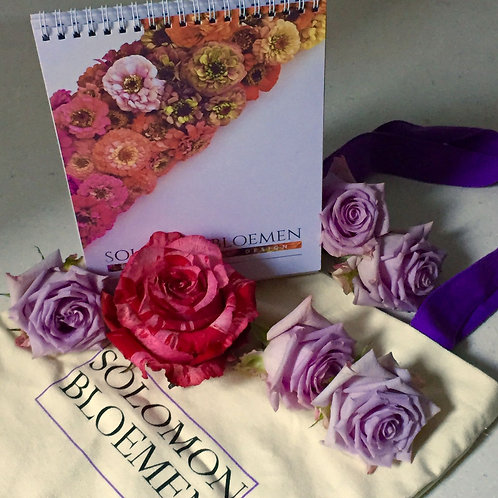 Package B. (Calendar B + SOLOMON BLOEMEN organic canvas A4 tote bag