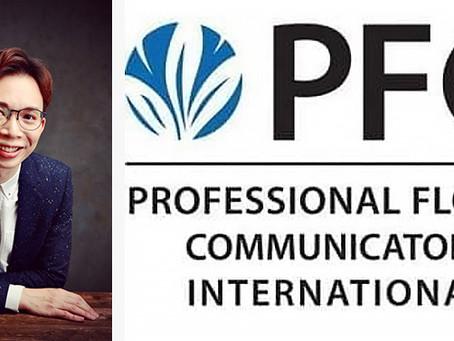 Dr. Solomon Leong join the Professional Floral Communicators  International (PFCI) family!