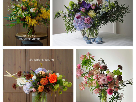 Omakase Flower Menu in a Color Spectrum