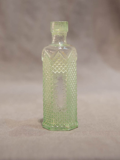 Vintage Victorian bottle ( Hexagon)