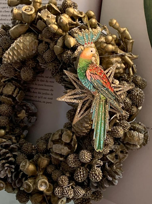 Wooden parrots and animal