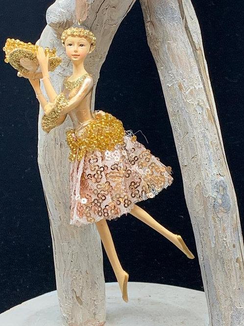 Gold dancer ornament
