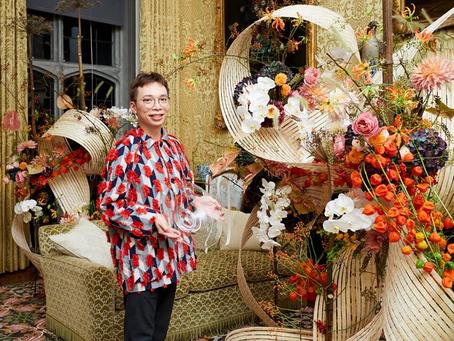 Dr. Solomon wins the Flower Festival Designer Award at Leeds Castle's 900th Anniversary