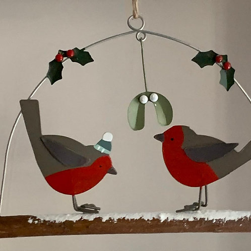 Double robin and mistletoe