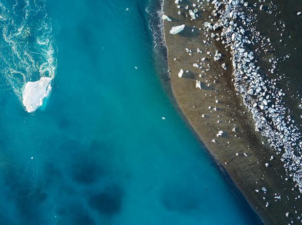 Islanda ghiaccio fluttuante Jokulsarlon.