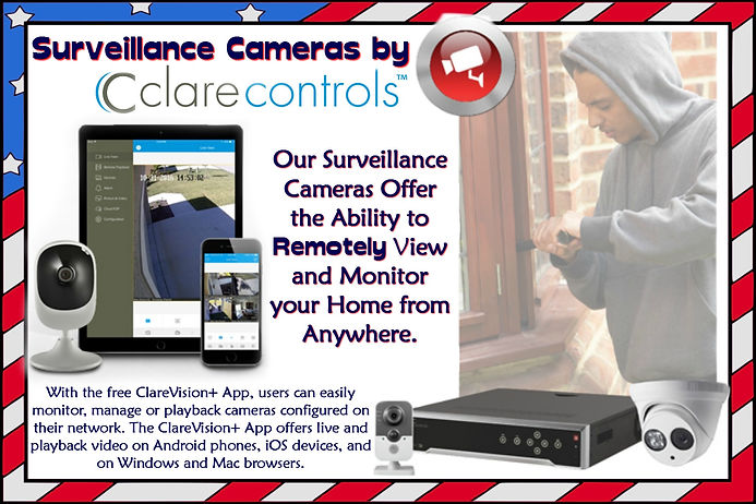 Surveillance cameras by clare controls remotely view and monitor your home from anywhere