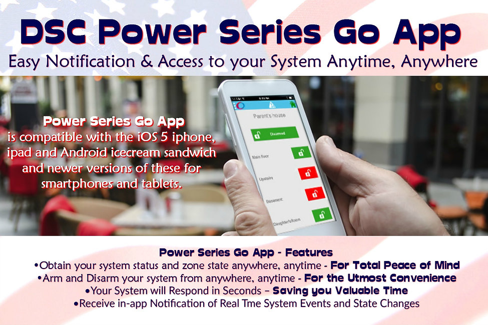 dsc power series go app arm and disarm your home from anywhere using your smart phone