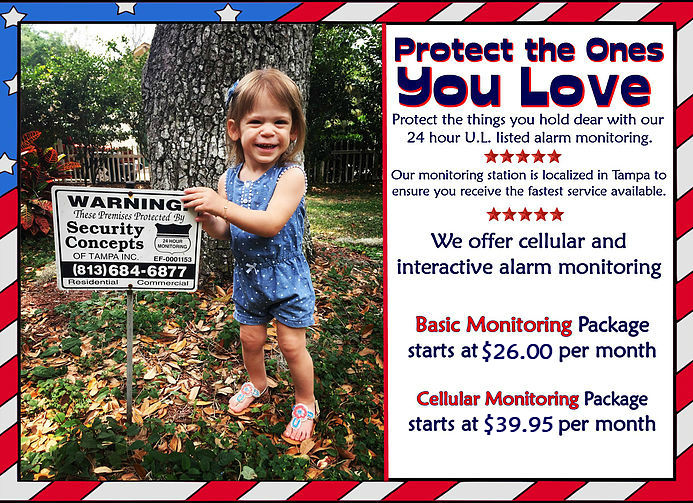 Protect the ones you love with our 24 hour monitoring basic monitoring starting at $25 a month cellular monitoring starts at $38.95 a month