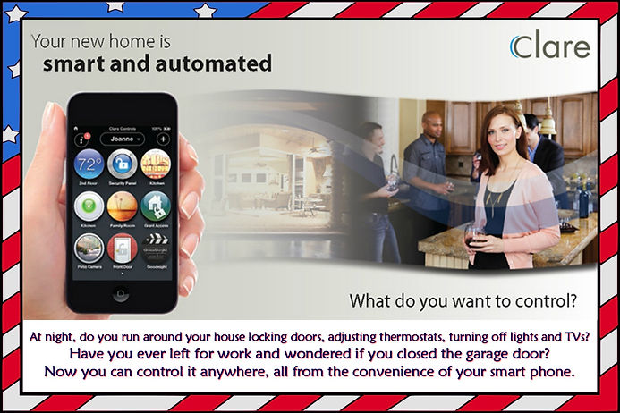 Your New Home is smart and automated clare controls