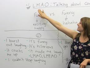 บทสนทนาว่าด้วยมุกตลกแบบต่างๆในภาษาอังกฤษ