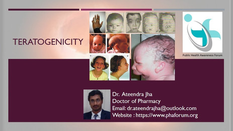 Teratogenicity – Pregnancy Stages and Development of Fetus , Defects and cases