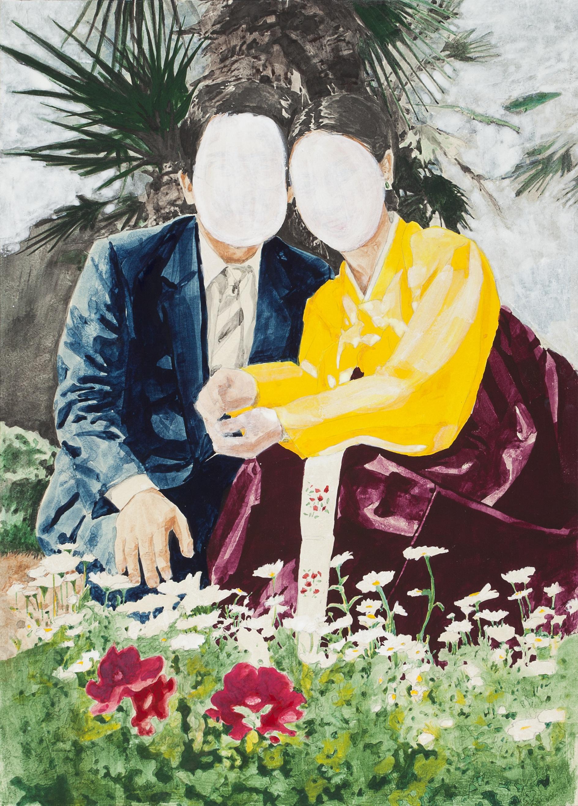 Mr. & Mrs. Koh Ⅱ_장지에 분채, 아교_46×62(cm
