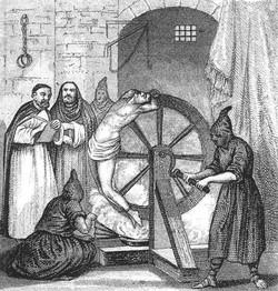Пытка колесом с огнем