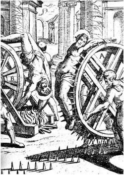 Пытка шипованным колесом