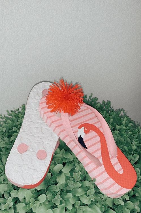 Flamingo flip-flops