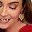 Thumbnail: Gold Heart Drops Earrings