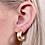Thumbnail: Gold Matte Hoop Earrings