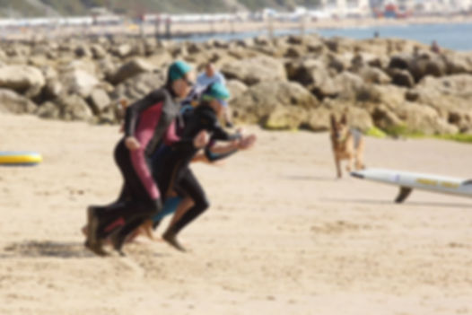 Nipper Charge to The water in the Surf Relay