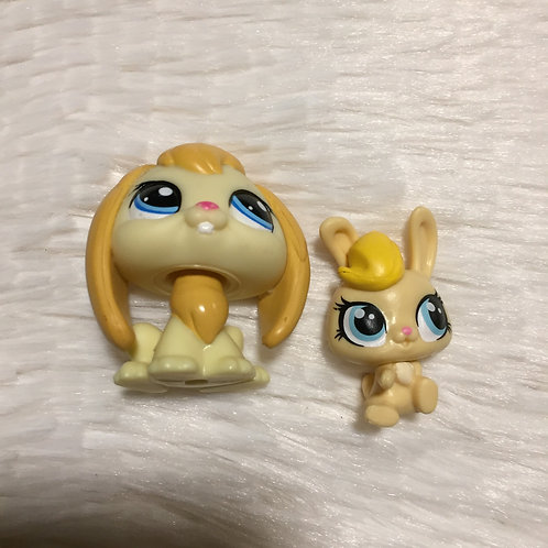 LPS Authentic Mom and Baby Bunny