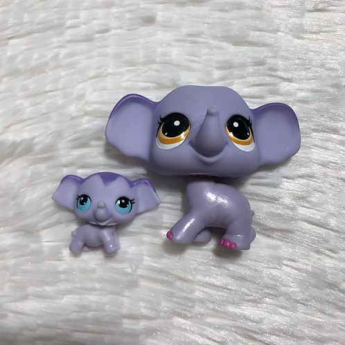 LPS Authentic Mom and Baby Elephant