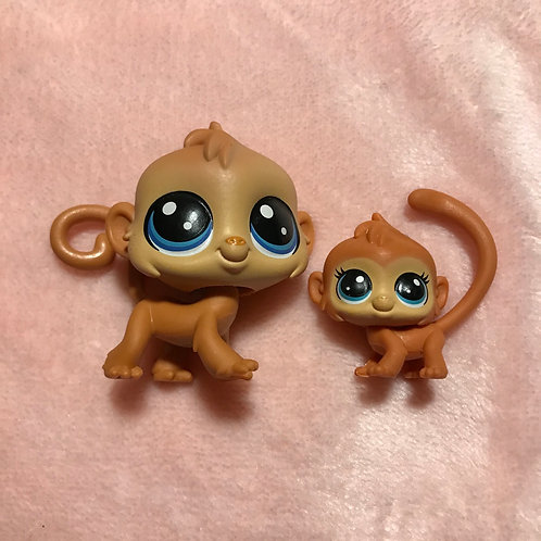 LPS Authentic Mom and Baby Monkey