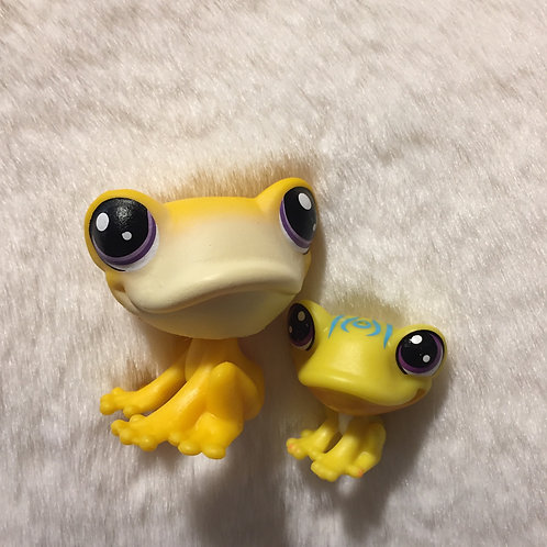 LPS Authentic Mom and Baby Frog