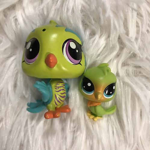 LPS Authentic Mom and Baby Bird