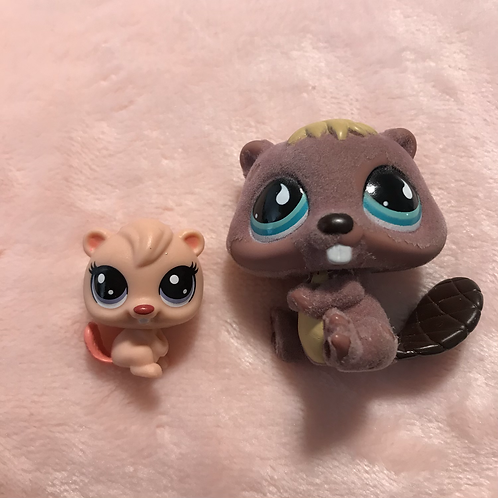 LPS Authentic Mom and Baby Beaver