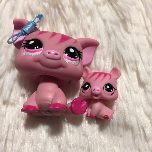 LPS Authentic Mom and Baby Pig