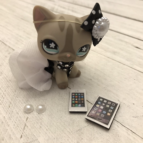 LPS HandmadeOutfit Dress & Accessories -Pet NOT Included-