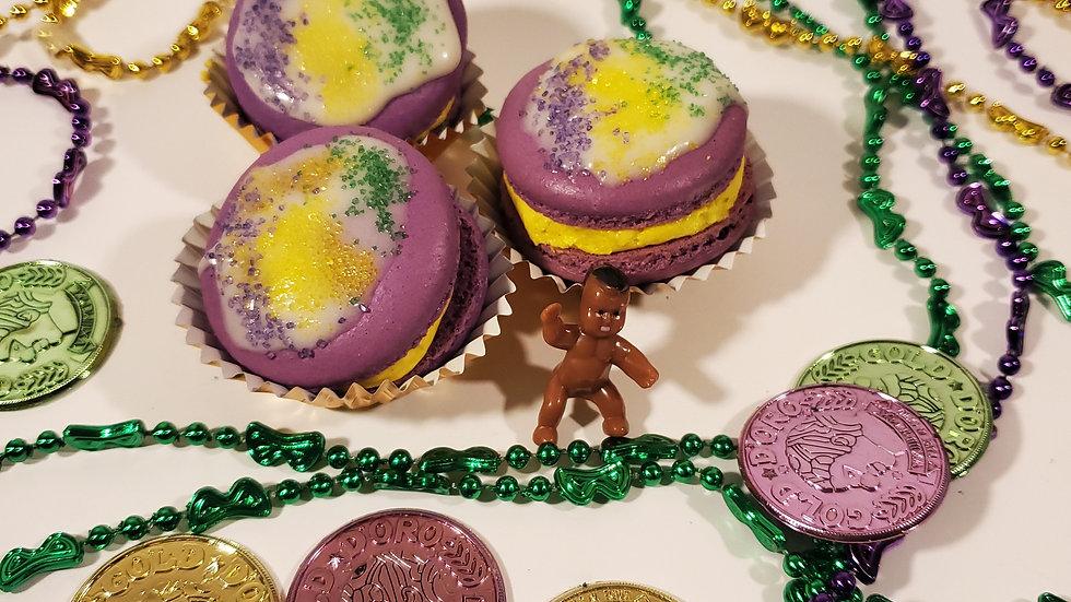 King Cake Macarons