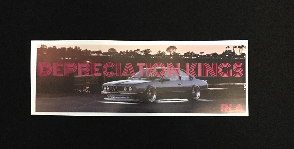 Depreciation Kings box sticker