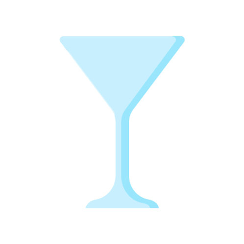 Plastic re-usable cocktail glass