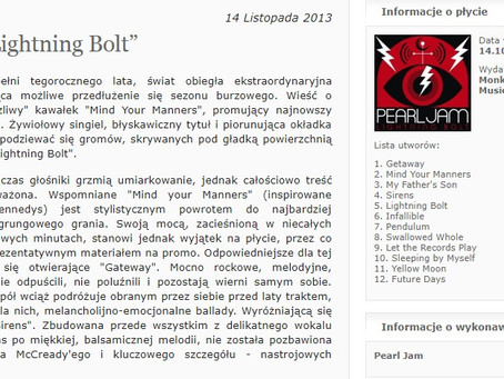 "Pearl Jam ""Lightning Bolt"" - recenzja - RockMagazyn"