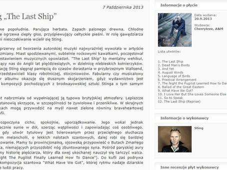 "Sting ""The Last Ship"" - recenzja  - RockMagazyn"